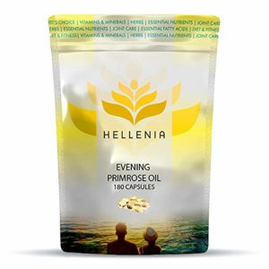 Hellenia Evening Primrose Oil 1000mg – 180 Capsules – Valuable Supplement for Women's Health