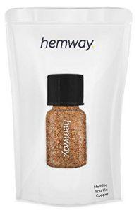 Hemway Tube de poudre pigmentaire pour ongles et lèvres en gel de qualité supérieure, anti-UV, 3,9 g, 0,15 oz Cuivre brillant métallique.