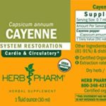 Herb Pharm Certified Organic Cayenne Extract for Cardiovascular and Circulatory Support – 1 Ounce