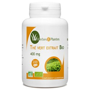 Herbes Et Plantes Thé Vert Bio 200 Comprimés 400 mg