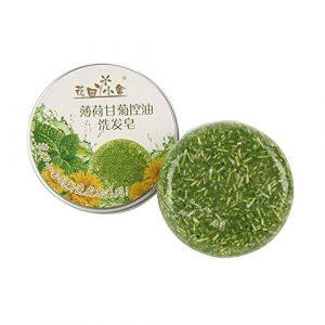 Hicustomer Savon Fait à la Main de shampooing rafraîchissant de Soin de Cheveux de thé Vert (Chamomile)
