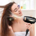 Hizek Seche Cheveux 2000W, Sèche Cheveux Ionique Professionnel avec Manche Pliable, 2 réglage de la température, 2 Vitesses, Protection Contre La Surchauffe, Noir