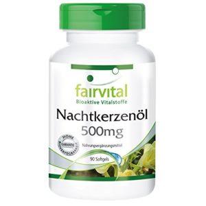 Huile d'onagre 500mg, riche en GLA (acide gamma-linolénique) avec vitamine E naturelle – 90 capsules molles