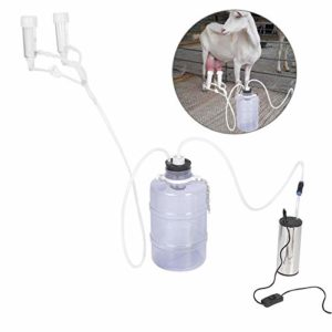 Jadpes Machine à traire électrique de chèvre, Petite Machine à traire électrique portative de Haute Configuration de ménage de 5L avec la Pompe d'impulsion de Vide pour Le kit de traite(UE)