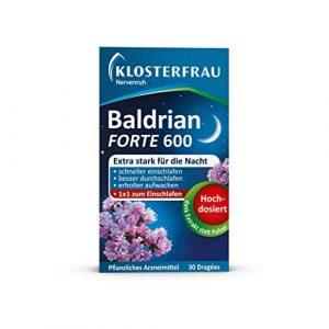 Klosterfrau Nervenruh Baldrian Forte 600 pour une tension nerveux plus légère et des troubles du sommeil