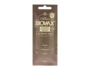 L 'biotica Biovax Intensive Repair Noix de macadamia et l'huile d'argan Cheveux Masque 20ml