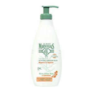 Le Petit Marseillais Lait Hydratant Hypoallergénique Aloe Calendula Pompe de 250 ml