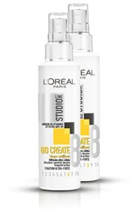 L'Oréal Paris Studio Line Go Create Spray Coiffant Fixation Ultra Forte 150 ml – Lot de 2