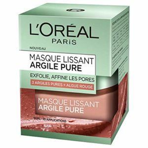 L'Oréal Paris Masque Visage Lissant Exfoliant à l'Argile/Algue Rouge 50 ml