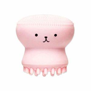 MachinYesell Little Cute Jellyfish Wash Brush Exfoliant Nettoyant Pour Le Visage Massage Doux Silicone Brosse Pour Le Visage Laveur Brosse De Nettoyage Des Pores Profonds