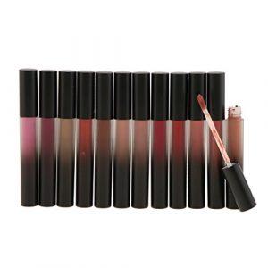 MagiDeal Lip Gloss Imperméable Rouge à Lèvres Liquide Mat Vernis à Lèvres Repulpant Non-stick pour Lèvres Maquillage – Lot de 12 Couleurs