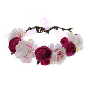 Manyo Couronne de fleurs Femme Floral Mariage Guirlande Bandeau Accessoire de Cheveux de Mariée