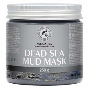 Masque de Boue la Mer Morte 250g – Nettoyage en Profondeur & Hydratant – Soins du Corps – Riche Minéraux de Boue de Mer – Supprimer les Rides & les Points Noirs – Masque pour Tous les Types de Peau