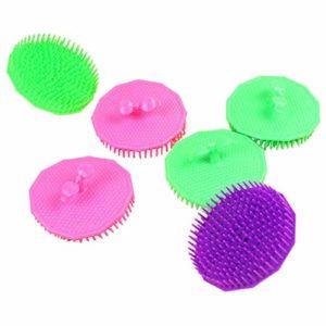 Masseur de Tête en Plastique Brosse de Massage pour Cheveux avec Poignée pour Relaxation de la Tête 8.2cm