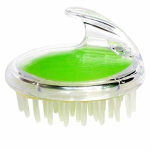 Masseur de Tête en Plastique Brosse de Massage pour Cheveux avec Poignée pour Relaxation de la Tête 9×7.5cm