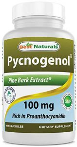 Meilleur Naturals Pycnogénol 100mg, 60gélules
