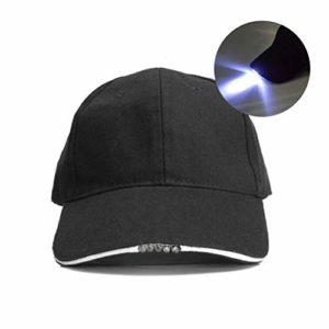 Mowtom Chapeau de pêche à LED avec 5 Casquettes de Baseball à LED Casquette de Baseball en Coton à LED pour pêche de Nuit Camping Jogging
