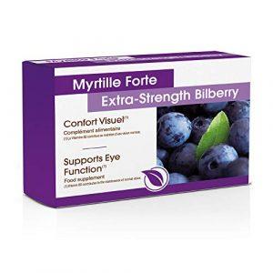 Myrtille Forte – Myrtille – Cassis – Carotte – Vitamine B2 I Protège Les Yeux du Vieillissement I Préserve Votre Vue – Complément Alimentaire pour Les Yeux – 30 Comprimés