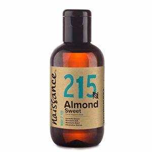 Naissance Huile d'Amande Douce (n° 215) – 100ml – 100% naturelle, végan, sans OGM – parfaite pour les massages, le soin des cheveux et de la peau