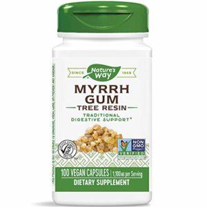 Nature's Way Extraits de myrrhe – Bain de bouche classique – 100 capsules