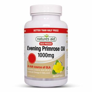 Natures Aid 1000mg Evening Primrose Oil – Pack of 180 Capsules