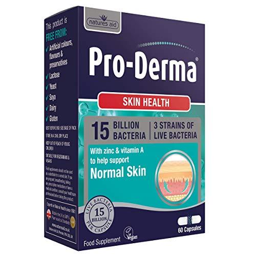 Natures Aid Pro Derma 15 Billion Bacteria Skin Health 60 Capsules