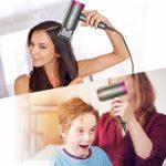 Newdora Sèche-Cheveux Professionnel Ionique 1800W, Seche Cheveux 3 Modes Régulation de Vitesse Libre avec Diffuseur – Noir
