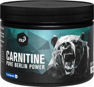nu3 – L-carnitine en gélules | 250 Unités | 1000 mg de l-carnitine pour 2 gélules | Complément alimentaire diététique pour les sportifs effectuant un effort musculaire intense | Complément d'acides aminés de haute qualité pour la perte de poids, le mental et plus d'énergie