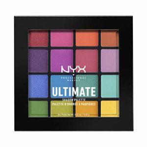 NYX Professional Makeup – Palettes de Fards à Paupières – Ultimate Shadow Palette – Ombres à Paupières Ultra Pigmentées – 16 Couleurs – Fini Irisé – Métallique – Mat – Teinte: Brights