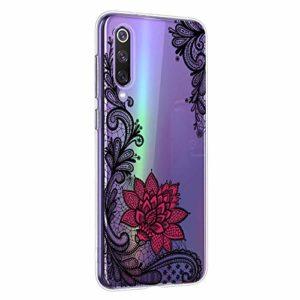 Oihxse Mandala Motif Case Compatible pour Xiaomi Mi 5X/Xiaomi Mi A1 Coque Transparente Silicone TPU Souple Protection Etui Ultra Slim Mehndi Floral Datura Dentelle Housse Bumper (A5)