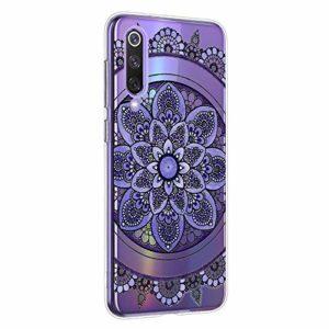 Oihxse Mandala Motif Case Compatible pour Xiaomi Mi 6 Coque Transparente Silicone TPU Souple Protection Etui Ultra Slim Mehndi Floral Datura Dentelle Housse Bumper (A1)