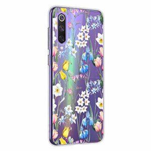 Oihxse Mandala Motif Case Compatible pour Xiaomi Mi 6 Coque Transparente Silicone TPU Souple Protection Etui Ultra Slim Mehndi Floral Datura Dentelle Housse Bumper (A18)