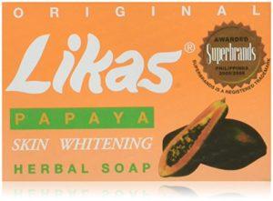 Original Likas Papaya Skin Whitening Herbal Soap by Trinidad Cosmetics Laboratory – 135 grams by Trinidad Cosmetics Laboratory Inc. BEAUTY (English Manual)
