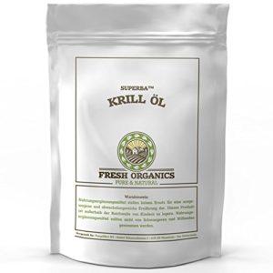 Original SUPERBA KRILL ÖL | 90 capsules à 500mg chacune | KRILLÖL | Antioxydant naturel | Astaxanthine | Riche en acides gras oméga | Teneur élevée en DHA + EPA | QUALITÉ PREMIUM