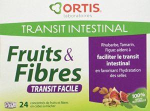 ORTIS Fruits & Fibres Transit Facile Complément Alimentaire Pâte à Mâcher 24 Cubes