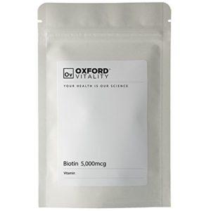 Oxford Vitality – Comprimés Biotine 5000mcg