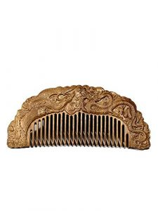 Peigne en bois sculpté mariage or soie Nanmu peigne dragon et phénix Chengxiang large dent bénédiction cadeau de mariage petite amie amant cadeau boîte