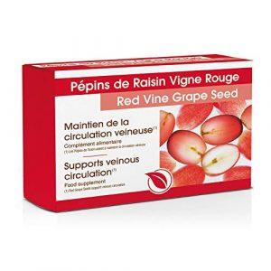 Pépins de Raisin – Vigne Rouge – Vitamine C – 60 Comprimés