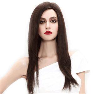 Perruque Perruque Europe et Amérique Longs cheveux raides naturelles Fluffy Fashion femmes de haute qualité