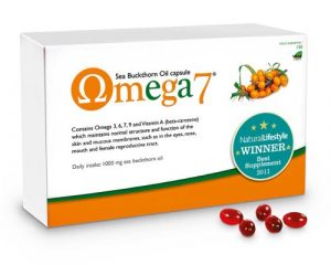 Pharma Nord Omega 7 Lot de 2 boîtes de capsules d'huile d'argousier 300 capsules