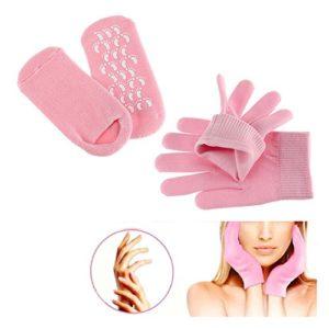 Pinkiou Soften SPA Gel Gants hydratants et chaussettes pour hydrater les soins de la peau fissurés (rose)