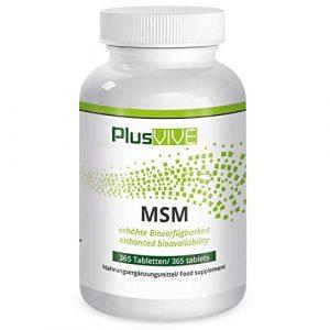 Plusvive – 365gélules de MSM avec matrice de biodisponibilité, (1000mg)