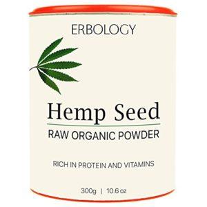 Poudre de Protéine de Chanvre Bio 300g – Riche en Vitamine D et Minéraux – Cru – Sans gluten