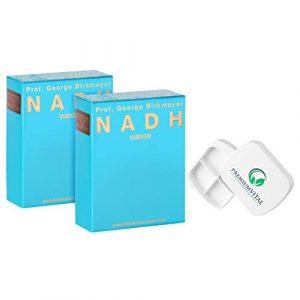 Premiumvital Lot de 2 boîtes à pilules Prof. George Birkmayer NADH 20 mg NADH/Coenzym 1 par comprimé)