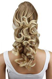 PRETTYSHOP 50cm Clip sur l'extension postiche Pièce de cheveux ondulé Look naturel fibres résistant à la chaleur mélange blond # 27T613 H207