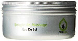 PURESPA Bougie de Massage Thalasso Eau de Sel – Lot de 10