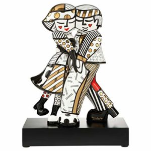 Romero Britto Golden Cheek to Cheek Pop Art 2020 Figurine
