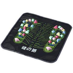 rosenice Tapis Massage pieds tapis Réflexologie digitopressione (Noir)