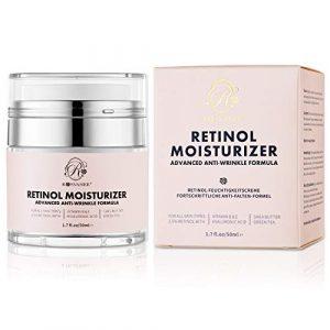ROSVANEE Crème hydratante anti-âge au rétinol pour le visage, le cou et les yeux avec 2,5% de rétinol, d'acide hyaluronique et de vitamines E et B5, crème hydratante anti-rides pour hommes et femmes
