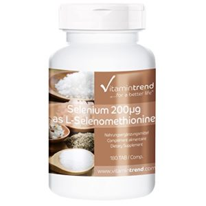 Sélénium 200mcg – 180 comprimés – Hautement dosé – Végan – Organique – ! POUR 6 MOIS ! – Flacon avantageux